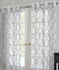 white rio sheer grommet curtain panel set of two coastal home