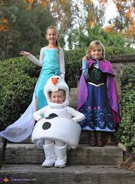 Anna Elsa Halloween Costumes Frozen Elsa Anna Olaf Costumes