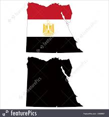 Image Of Flag Of Egypt Flags Egypt Map Flag Stock Illustration I3608667 At Featurepics