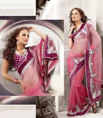 Buy Violet Embroidered Art Silk Buy Violet Embroidered Art Silk Saree With Blouse Online
