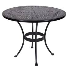 Small Outdoor Table by Ow Lee Bistro 36 Inch Round Stamped Metal Dining Table 36 Su