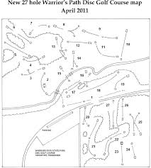 Johnson City Tennessee Map by Warriors Path State Park Professional Disc Golf Association