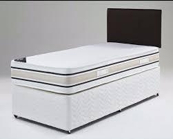 single divan bed set with mattress headboard size 3ft 4ft6
