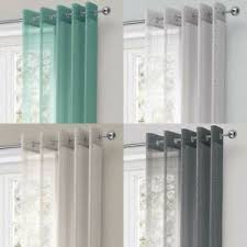 Sheer Metallic Curtains Chicago Eyelet Voile Curtains Sparkle Metallic Ring Top Sheer