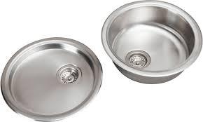 inset kitchen sink sauber round inset stainless steel sink drainer glade kitchen