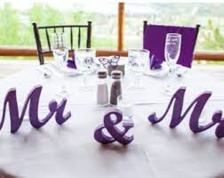 mr and mrs wedding signs mr end mrs wedding table signs wedding sign wedding decor