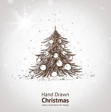 hand drawn vintage christmas tree u2014 stock vector ozerina 15401501