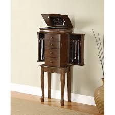Queen Anne Secretary Desk by Powell Furniture 741 319 Louis Philippe Jewelry Armoire In Walnut