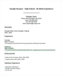 resume for high school students with no experience template sle resume for a highschool student with no experience paso