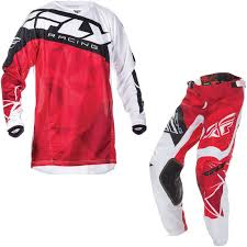 motocross jersey and pants combo fly racing 2017 kinetic crux motocross jersey u0026 pants red white