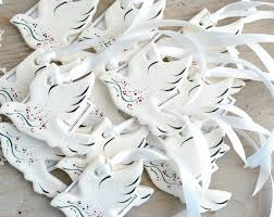 baptism ornament favors dove ornaments wedding or baptism favors salt dough etsy your
