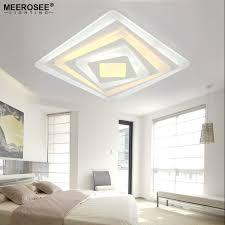 eclairage plafond cuisine led carré acrylique led plafond luminaire salon chambre décoratif
