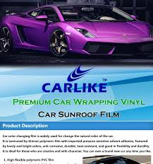 car wrapping paper 150microns high glossy black car sunroof vinyl sticker