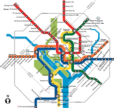 Washington travel keywords images Washington subway map travel map vacations gif