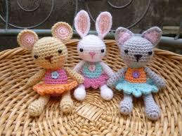 etsy crochet pattern amigurumi amigurumi pocket pets crochet pattern baby mouse rabbit and cat