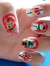 nail art christmas beautify themselves with sweet nails