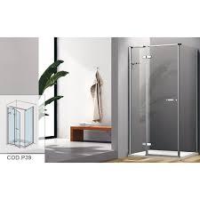 parete fissa doccia box doccia con porta a battente e parete fissa cristallo 8 mm cod