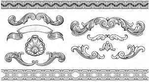 vintage ornaments with frames vector free vector in encapsulated