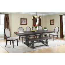 8 pc dining room set picket house furniture dmo100rfb8pc steele 8 piece dining set