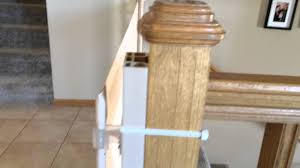 Banister Gate Adapter How To Install Retract A Gate Youtube