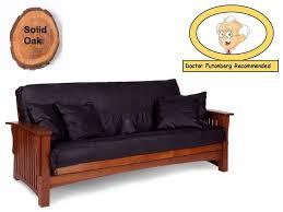 oak futon sofa bed size premium manhattan solid cherry oak futon package