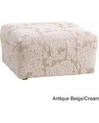 Soft Ottoman Amazing Deal On Sure Fit Stretch Forest Ottoman Slipcover Soft