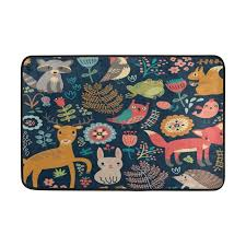 Owl Kitchen Rugs Custom Made Forest Owl Deer Hedgehog Fox Area Carpet Rugs Kitchen