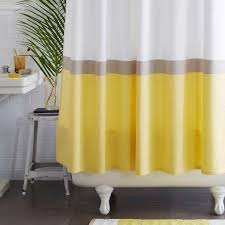 Grey And Yellow Shower Curtains Stripe Yellow And White Shower Curtain