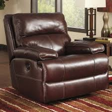 furniture cozy leather rocking recliner decor with small wood