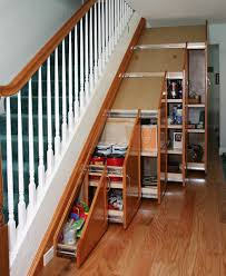 under stairs shelving under stair storage traditional staircase orange county by