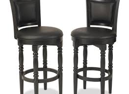 Black Metal Bar Stool Bar Black Leather Upholstered Bar Stool With Low Back