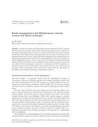 lexisnexis node id border management in the mediterranean internal external and