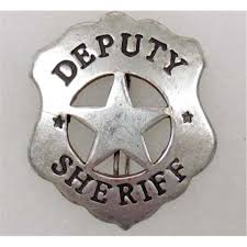 old west deputy sheriff cowboy era law badge