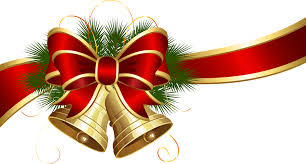 transparent christmas bells with red bow clipart gallery