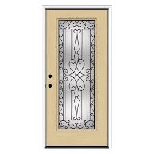 Prehung Exterior Doors Lowes Shop Reliabilt Wyngate Decorative Glass Right Inswing