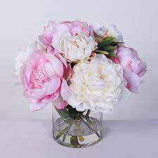 Fake Peonies Image Gallery Of Peonies Bouquet Vase
