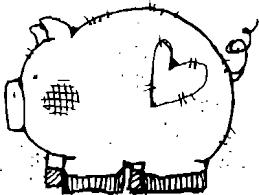 fat cute pig printable coloring books