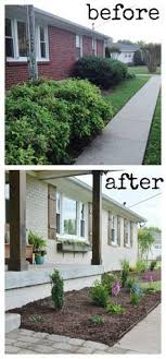 20 home exterior makeover before and after ideas home curb appeal 8 stunning before after home updates brick ranch