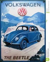 blue volkswagen beetle vintage vintage advert of volkswagen beetle editorial stock image image