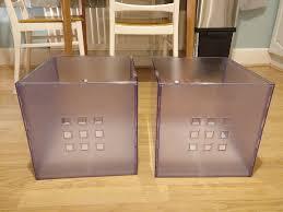 2 lekman plastic storage boxes to fit ikea kallax shelves in