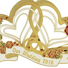 our wedding ornament 2016 chemart ornaments solid brass ornament