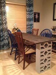 Decorative Cinder Blocks Home Depot Done Wood Stain And Cinder Blocks From Home Depot Chairs From