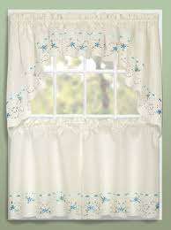 Blue Swag Curtains Rachael Tier Swag Curtains United Curtains Jabot