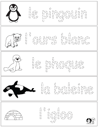 french winter animals worksheets french for children free