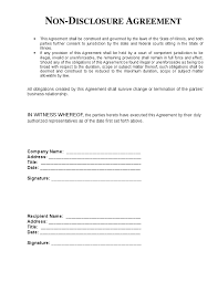 Non Disclosure Statement Template by Non Disclosure Agreement Template Cyberuse
