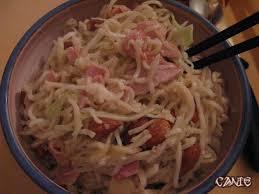 cuisine pourrie nouilles sautées au cochon et choux blanc canie la gnou
