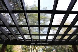 Image Of Pergola by Clear Polycarbonate Roof And Espresso Opaque Olympic Stain Home