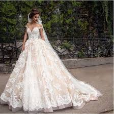 gown wedding dress cheap 2017 lace applique princess country wedding dresses berta