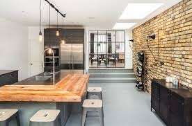 london glass room dividers dining industrial with stair step