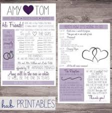 Funny Wedding Programs Printable Infographic Wedding Program Customizable By